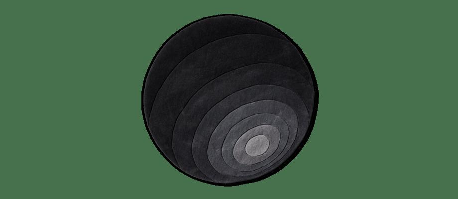 Verpan Luna Rug Grey Rund matta i grå toner av Verner Panton