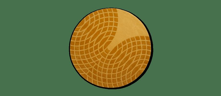 Verpan Panton Grande Rug Yellow Handtuftad rund matta i gul färg