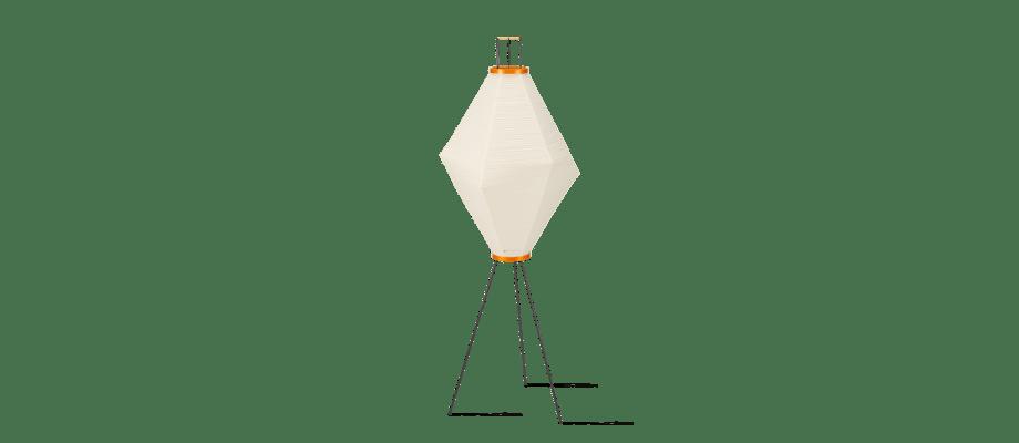 Vitra Akari 13A Golvlampa i bambu, washipapper och svartlackerat stål