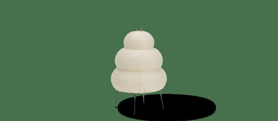 Vitra Akari 24N Bordslampa i vitt washipapper och svartlackerat stål