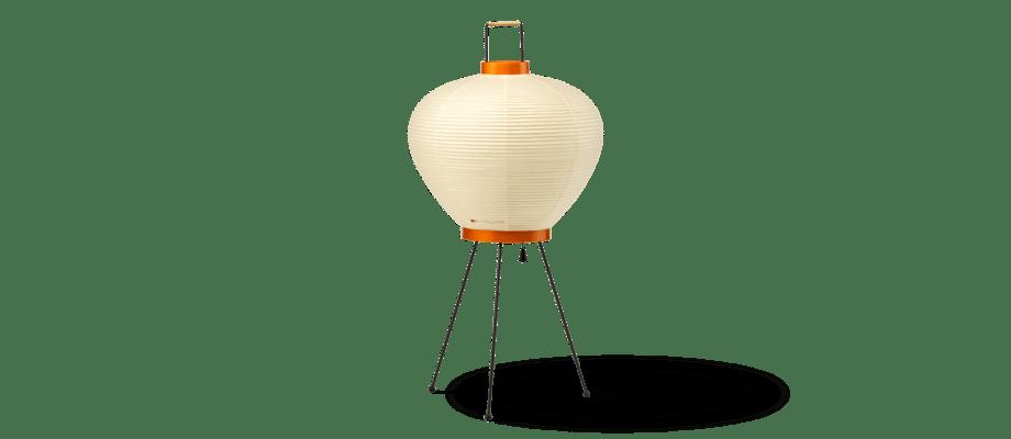 Vitra Akari 3A Bordslampa i bambu, washipapper och svart stål