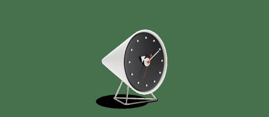 Vitra Cone Clock Bordsklocka i vit och svart färg
