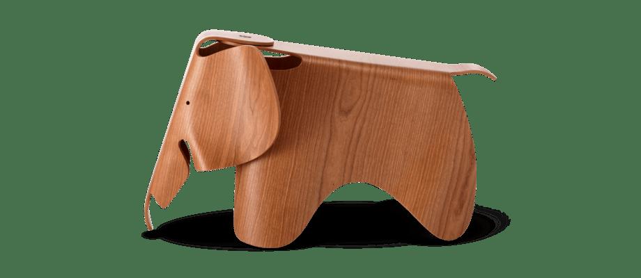 Vitra Eames Elephant Plywood klädd i amerikansk körsbärsfanér