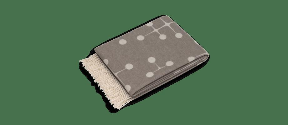 Vitra Charles & Ray Eames Wool Blanket Taupe i merinoull med jacquardväv
