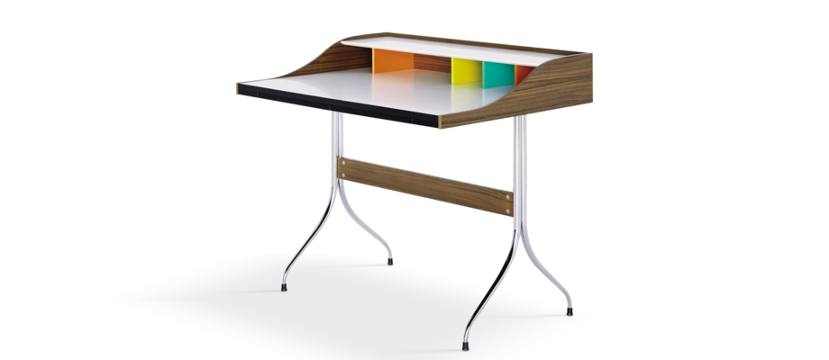 Vitra Home Desk Skrivbord i valnötsfanér av George Nelson