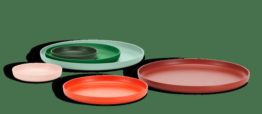 Vitra Trays Brickor i ett 3-pack bestående av röda eller gröna toner