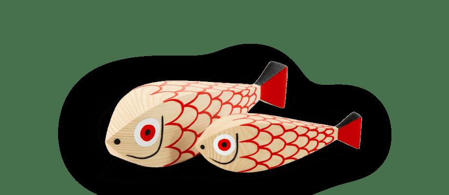 Mother Fish & Child av Alexander Girard för Vitra och serien Wooden Dolls