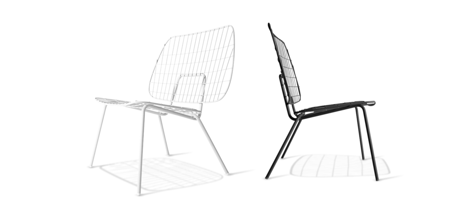 Menu WM Lounge Chair Fåtölj finns i vit och svart på Olsson & Gerthel