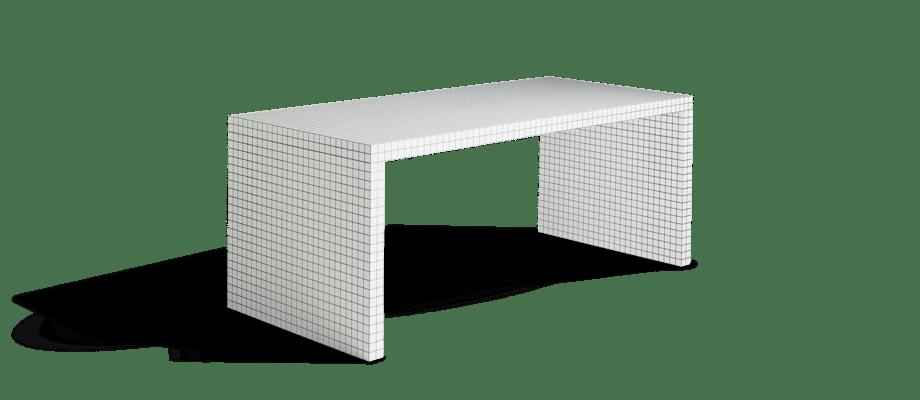 Zanotta 2830 Quaderna Skrivbord i vit färg med svart rutmönster