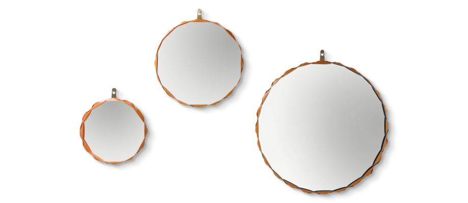 Zanotta 471 Raperonzolo Speglar med en diameter på 51, 69 och 105 centimeter