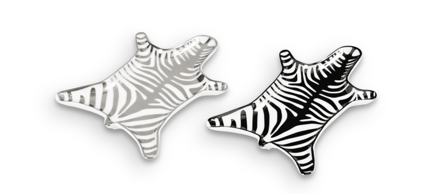 Jonathan Adler Zebra Fat Silver och Svart/Vit